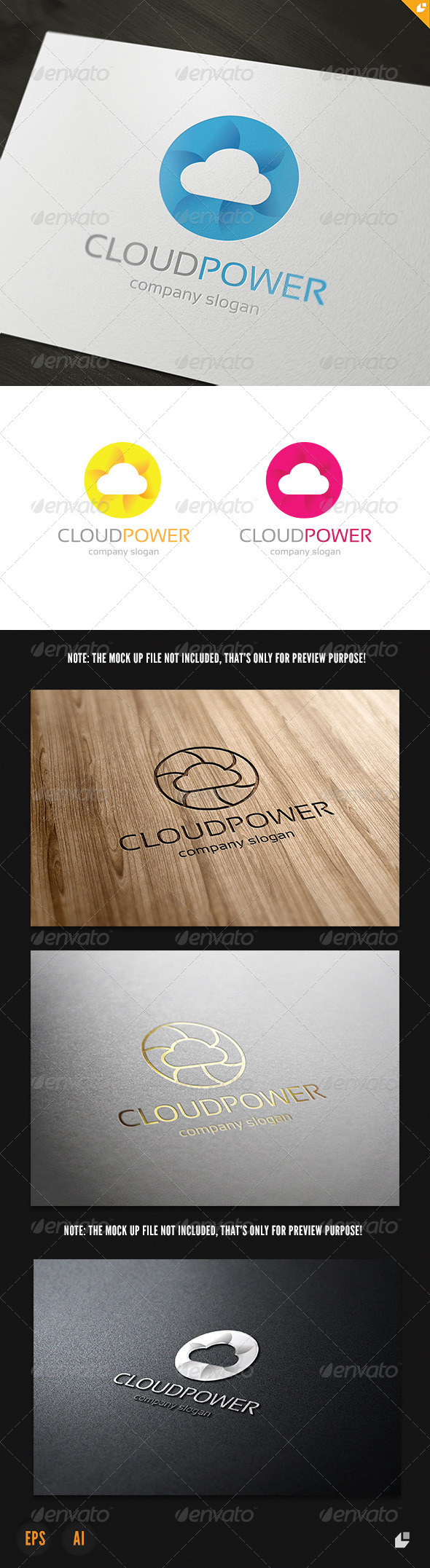 GraphicRiver Cloud Power Logo 3905440