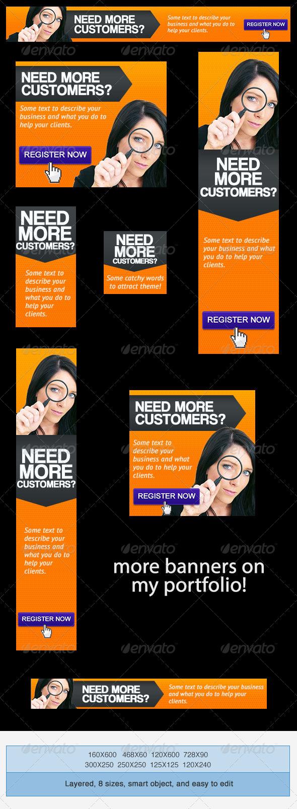 GraphicRiver Lead Conversion Banner Ad PSD Template 4034575