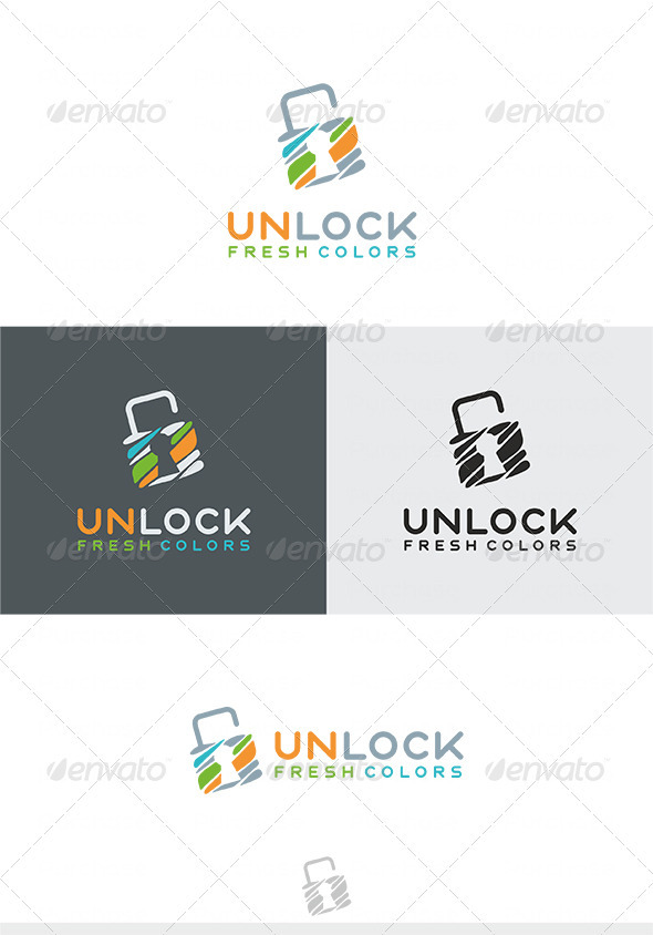 Unlock Fresh Colors Logo - Symbols Logo Templates