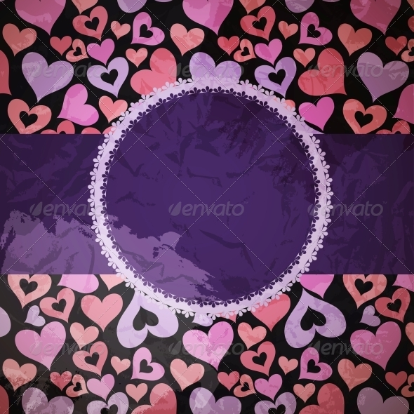 GraphicRiver Hearts Background Vector ith sample text 4035188