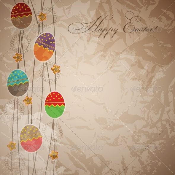 GraphicRiver Easter card template vector illustration 4035437