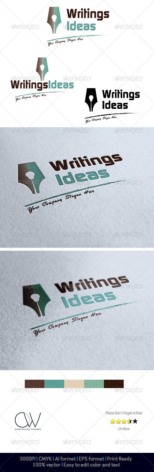 Writings Idea Logo - Logo Templates