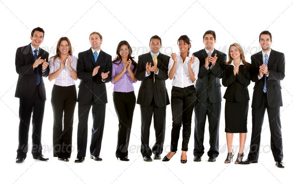PhotoDune Business people applauding 436406