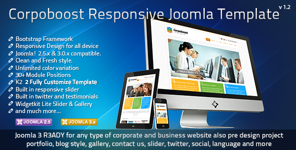 Corpoboost - Responsive Joomla Template  - Business Corporate
