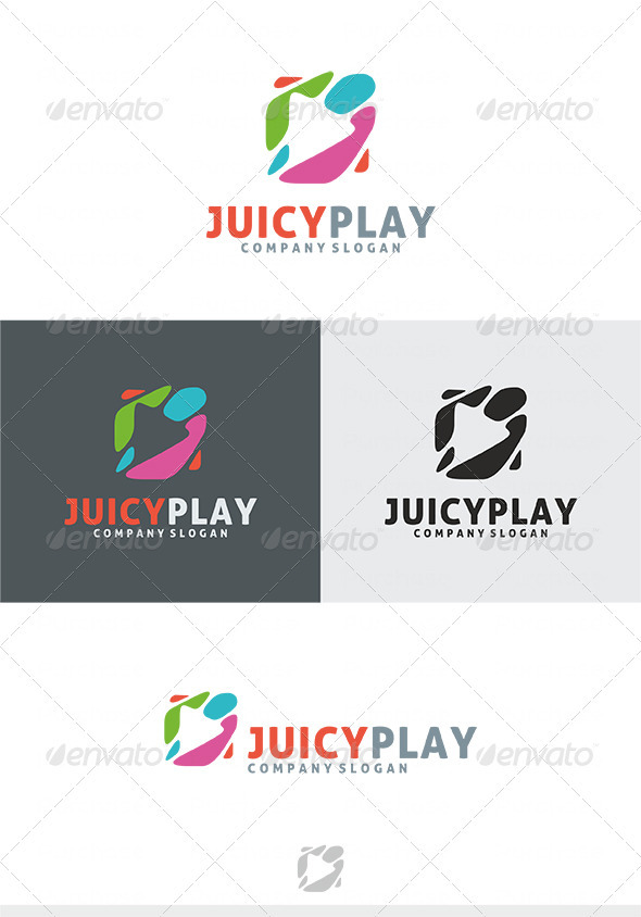 Juicy Play Logo - Symbols Logo Templates