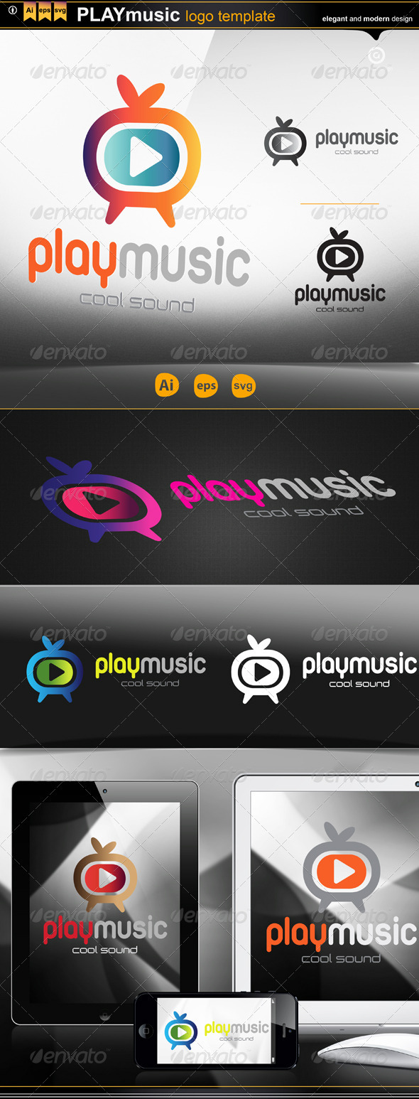 play music - Logo Templates