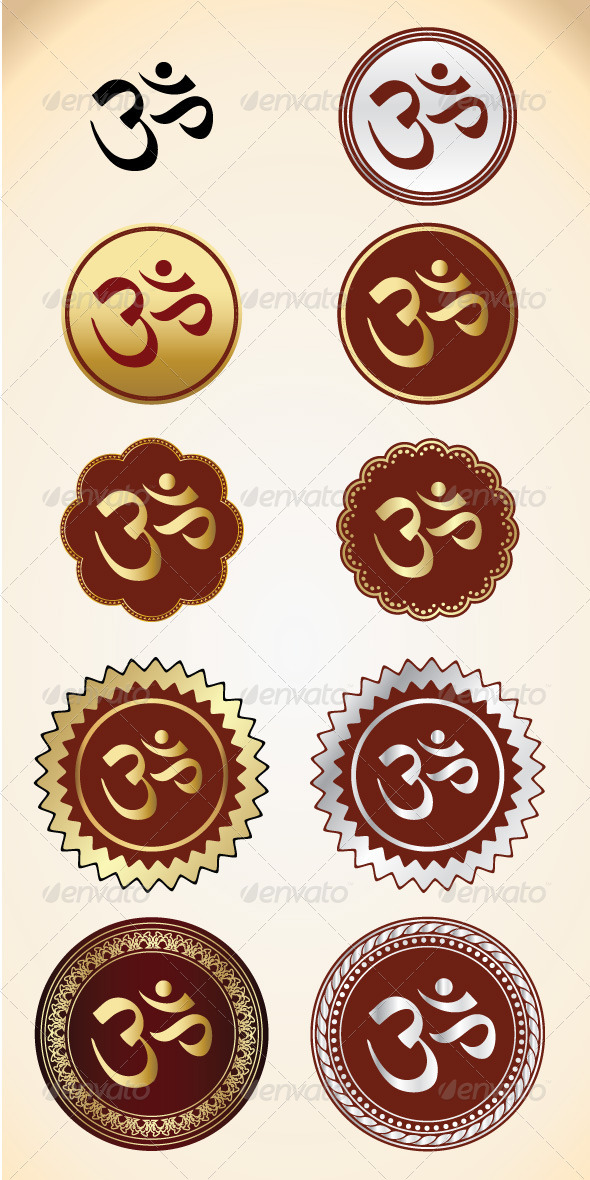 GraphicRiver 10 Vector OM Shape 4037744