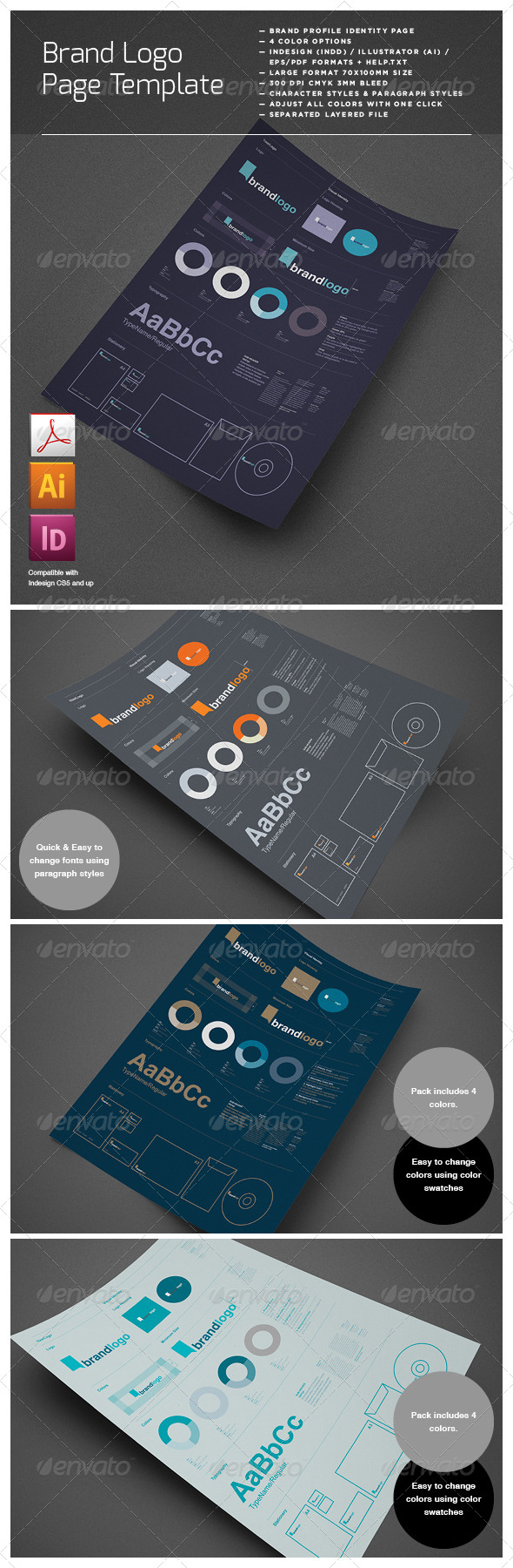Brand Logo Identity Layout Page - Proposals & Invoices Stationery