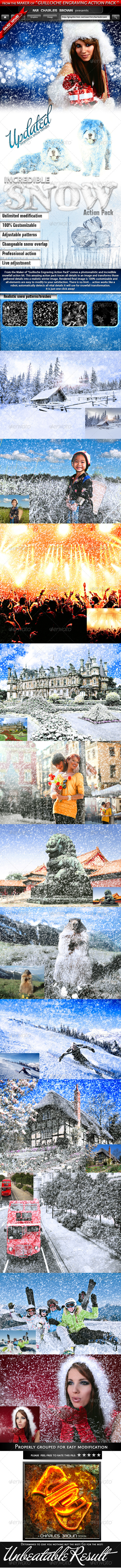 Incredible Snowfall Action Kit - Photo Effects Actions