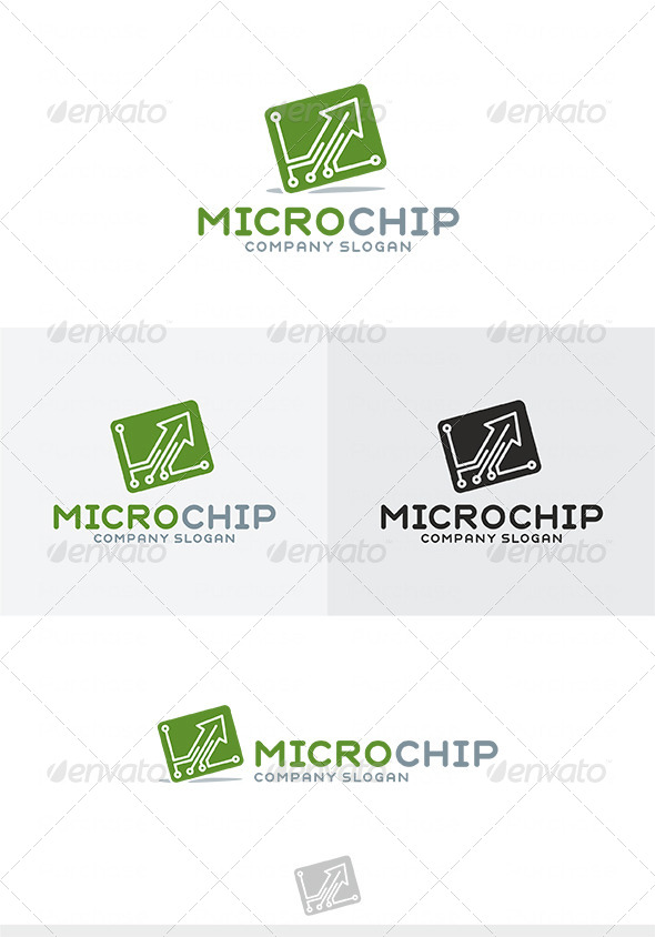 GraphicRiver Micro Chip Logo type1 4038559