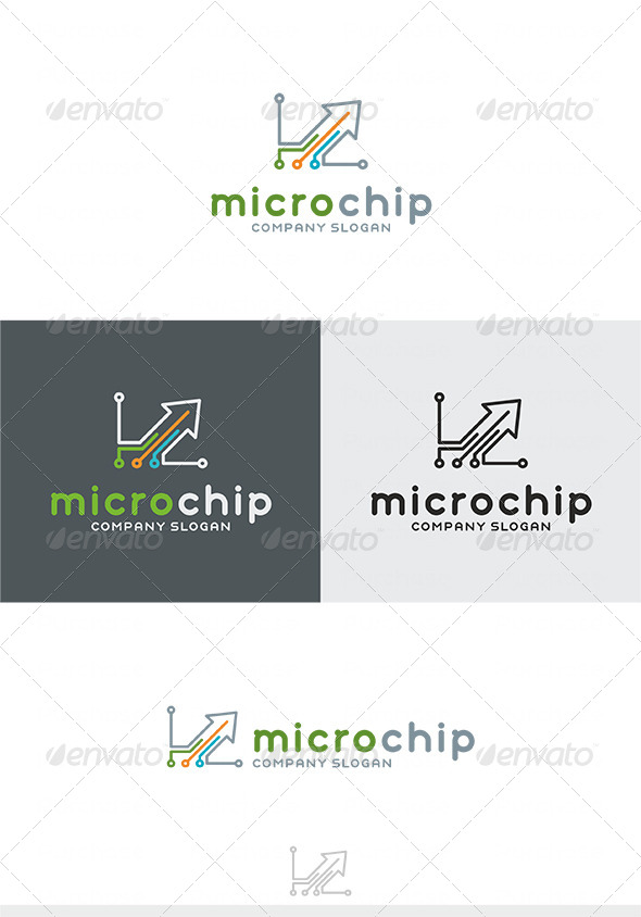 GraphicRiver Micro Chip Logo type2 4038780