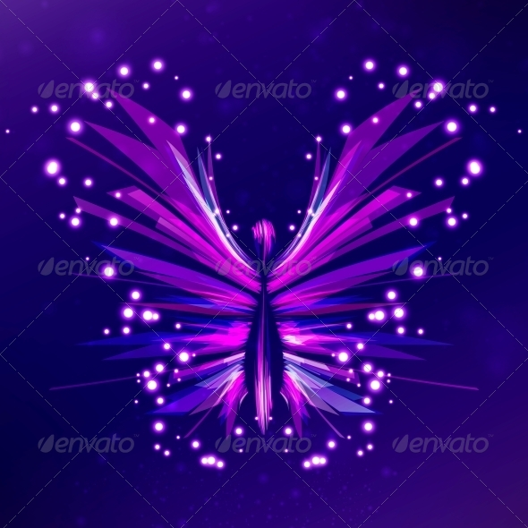 GraphicRiver Shiny Butterfly Abstract Vector 4040467