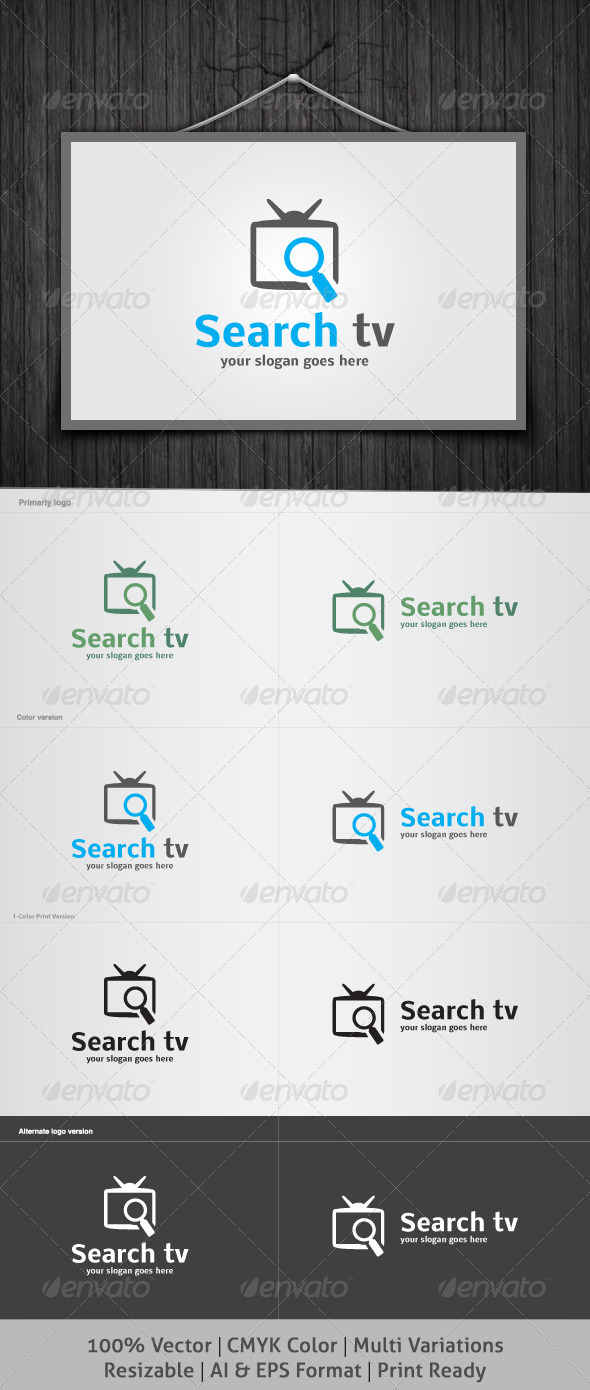 Search tv Logo - Objects Logo Templates
