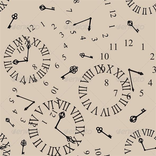 GraphicRiver Antique Clock Face Seamless Background 4041299