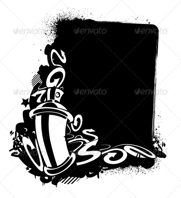 GraphicRiver Graffiti Image of Can with Arrows 4041328