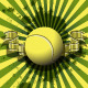 Tennis Ball on a Green Background - GraphicRiver Item for Sale
