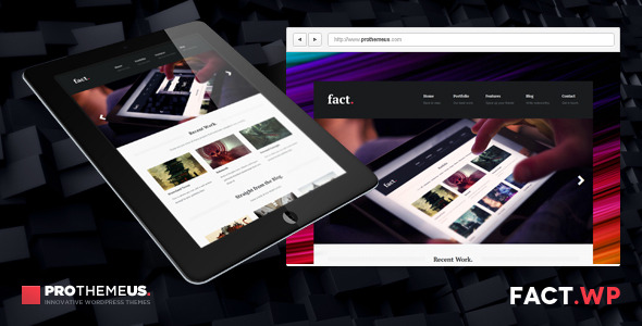 Fact | A Bold WordPress Theme for Creatives