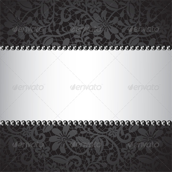 GraphicRiver black pearl and dark lace card 4041693