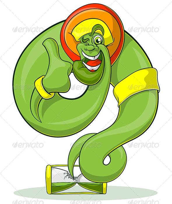 GraphicRiver Green Genie Rastaman 4042551
