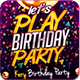 Lets Play Birthday Party Flyer Template - GraphicRiver Item for Sale