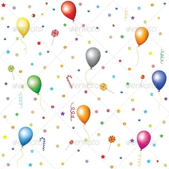 GraphicRiver Candies Lollipops Confetti and Stars 4042593