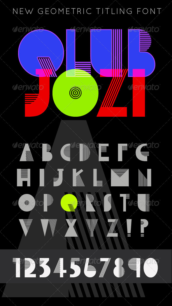 GraphicRiver QlubJozi Modern Titling Caps Font 4042974