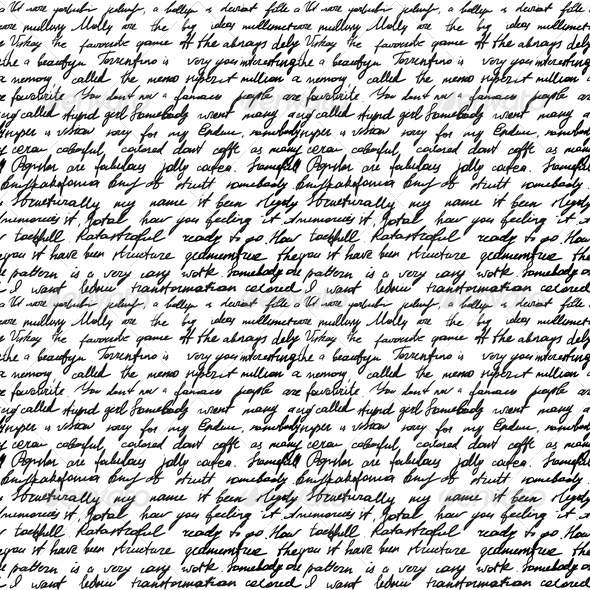 GraphicRiver Seamless Background with Handwritten Letter 4043154