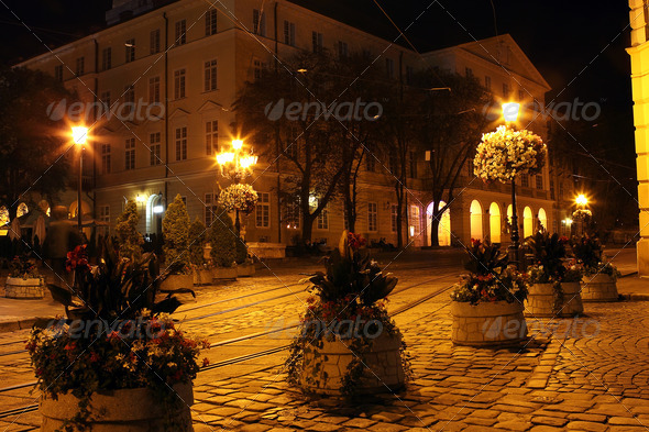 PhotoDune Lviv city by night 4102115