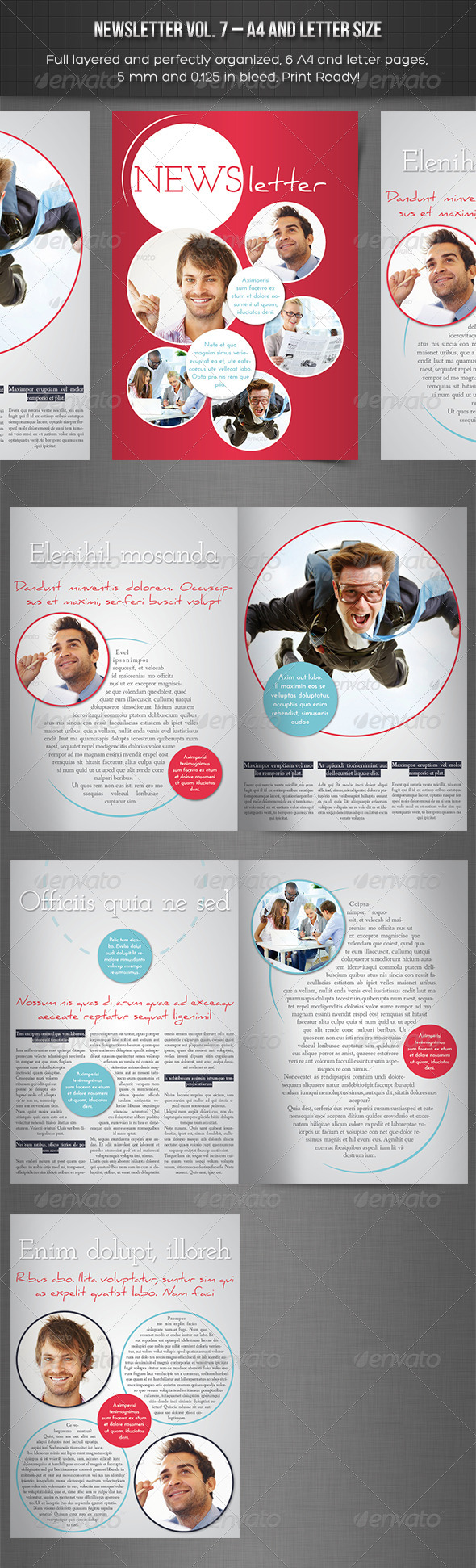 Newsletter Vol. 7  Indesign Template - Newsletters Print Templates