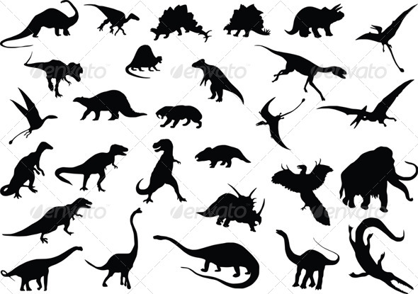 GraphicRiver Vector Dinosaurs 4044094