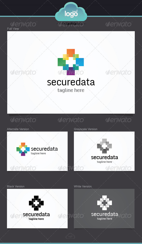GraphicRiver Secure Data Logo Template 4045761