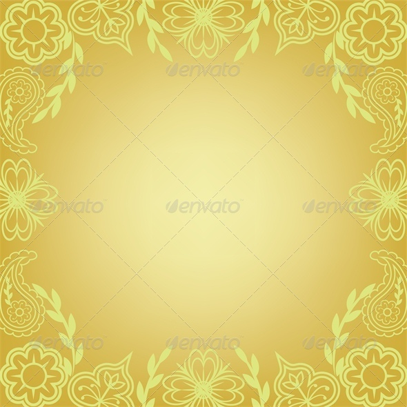 GraphicRiver Floral frame summer background 4046111