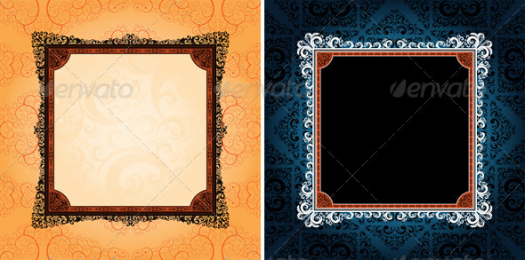 GraphicRiver ornamented frames 4046304