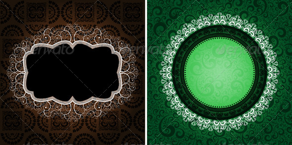 GraphicRiver ornamented backgrounds 4046310