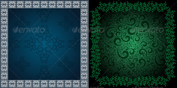 GraphicRiver ornamented backgrounds 4046405