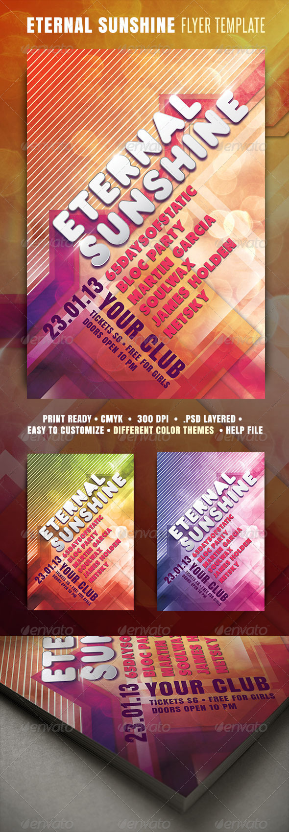 Eternal Sunshine Flyer - Clubs & Parties Events