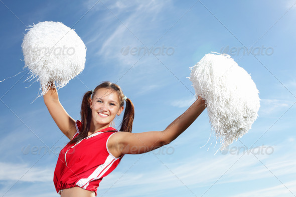 PhotoDune Young female cheerleader 4048116