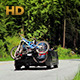 Car With Bikes On Forest Road - VideoHive Item for Sale