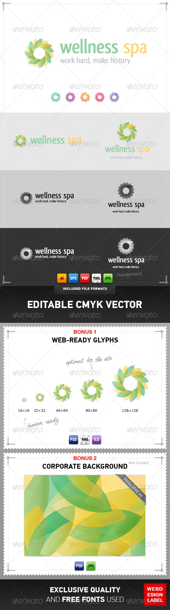 GraphicRiver Wellness Spa Logo 4047579