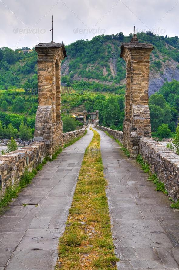 PhotoDune Hunchback bridge Bobbio Emilia-Romagna Italy 4048781