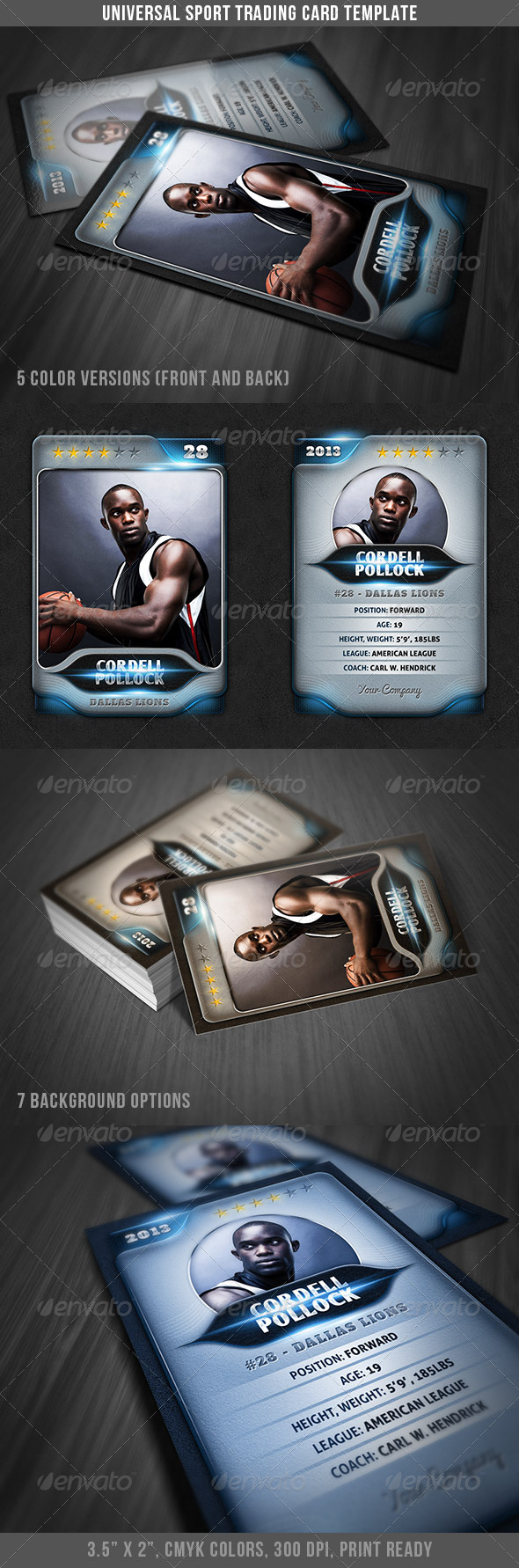 GraphicRiver Universal Sport Trading Card 4049099