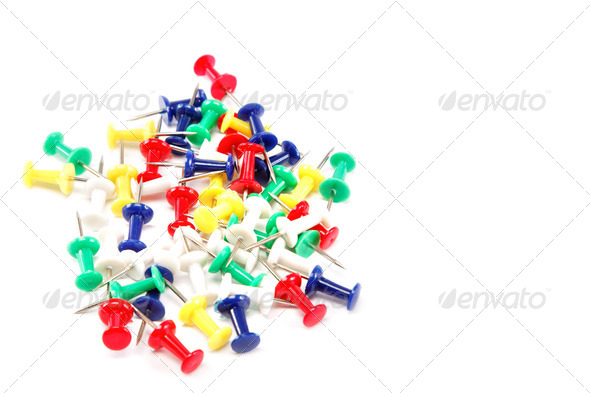 PhotoDune Colored pushpin isolated on white background 4049298