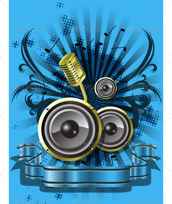 GraphicRiver blue musical background 4049328