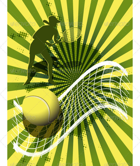 GraphicRiver sports background tennis 4049424