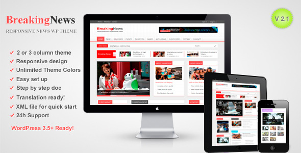 BreakingNews - Responsive WordPress Theme