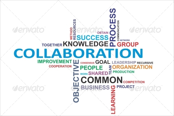 word cloud - collaboration Stock Photo by master_art | PhotoDune