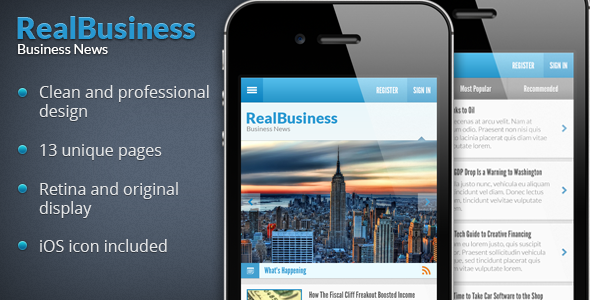 ThemeForest Business News PSD 4051246