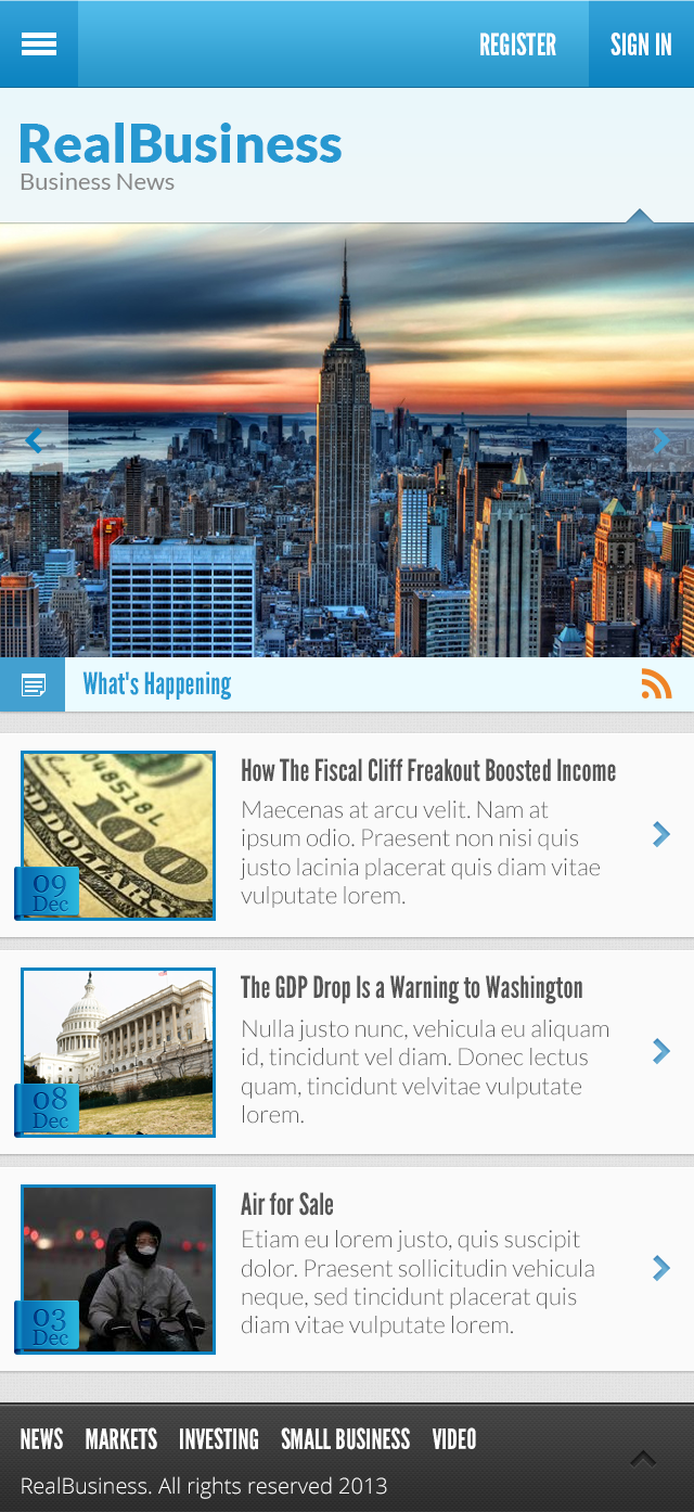 Business News PSD