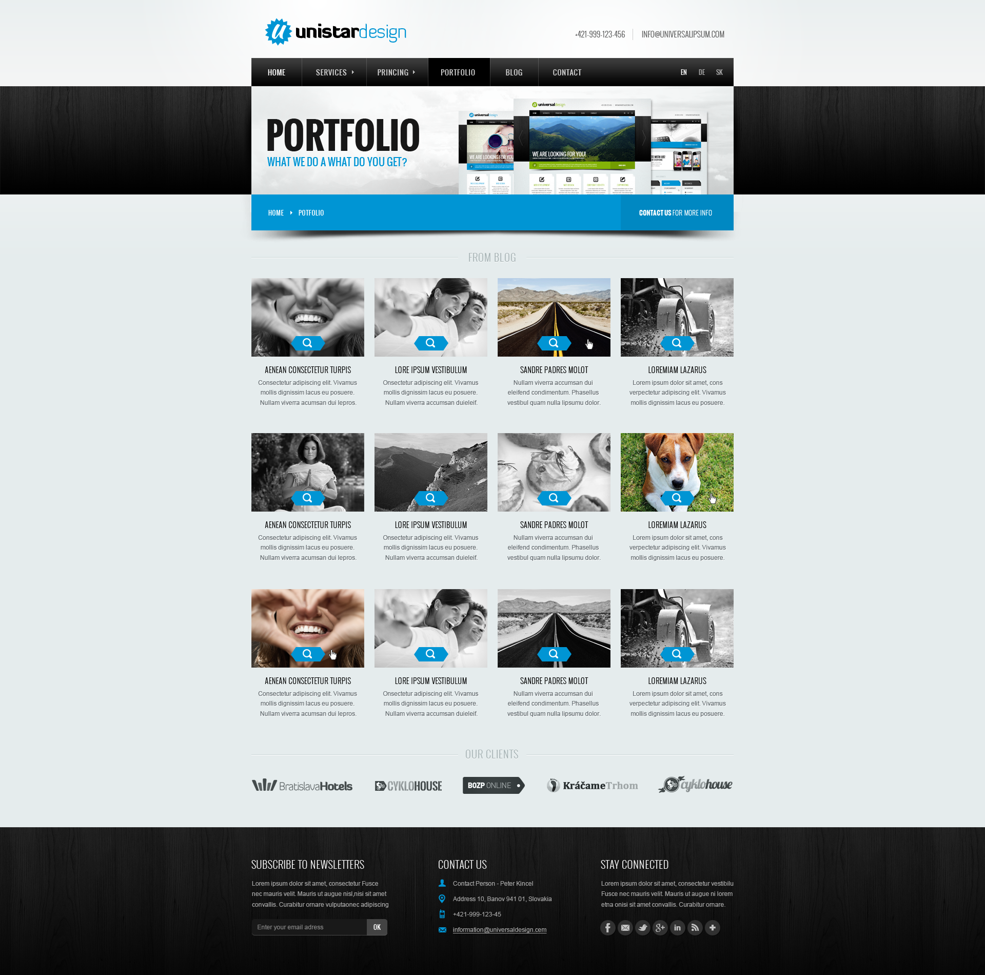 Unistar Design - PSD Template