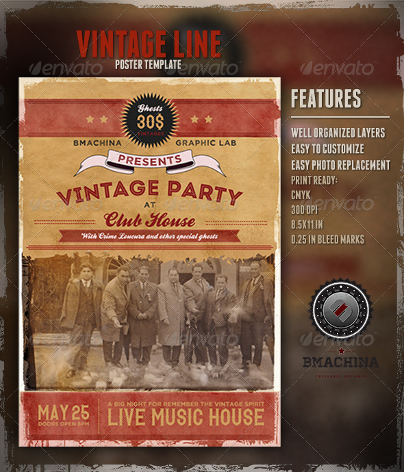GraphicRiver Vintage Poster Template 3931201